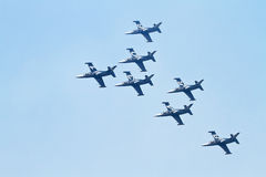 Airplane airshow performers Royalty Free Stock Photography