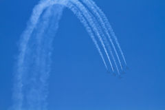 Airplane airshow performers Royalty Free Stock Image