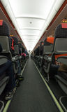 Airplane aisle Stock Photos