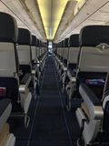 Airplane aisle seating Royalty Free Stock Photos