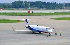 Airplane of Ak-Bars avia Royalty Free Stock Photos