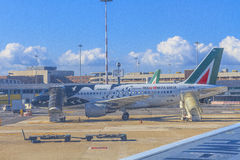 Roma airport Stock Images