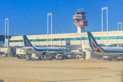 Romas airport Stock Images
