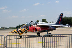 Airplane Alpha Jet D-IFDM stock photo