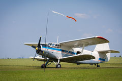Airplane Antonov 2. Historical airplane Antonov An-2 from Russia royalty free stock images