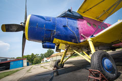 Airplane Antonov An-2 from Russia Stock Images