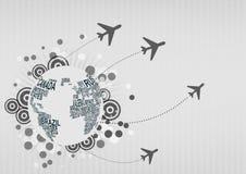 Airplane around the world Stock Photos