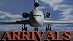 Airplane arrivals Stock Images