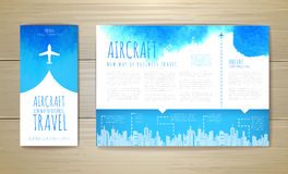 Airplane artistic document template Stock Photo