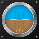 Airplane attitude indicator design Stock Photo