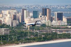 Airplane of Azul airlines royalty free stock photography