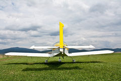 Airplane back view Stock Photography