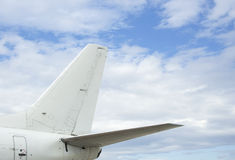 Airplane back wing Royalty Free Stock Image
