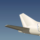 Airplane back wing vector Stock Photo
