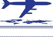 Airplane, background Royalty Free Stock Photos