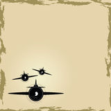 Airplane background Royalty Free Stock Photos