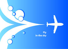 Airplane background Royalty Free Stock Photography