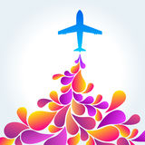 Airplane background. Abstract decorative background with Airplane Stock Image