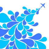 Airplane background. Abstract decorative background with Airplane Royalty Free Stock Photo
