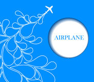 Airplane background Stock Photos