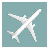 Airplane  on background Royalty Free Stock Photo