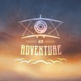 Airplane Badge Stock Photography