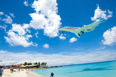 Airplane Beach Royalty Free Stock Photos