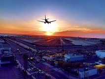 Airplane. Beautiful view cali of plane  sandiego Stock Image