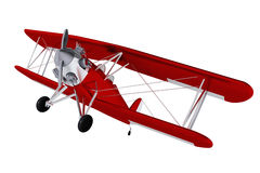 Airplane Biplane Isolated on White Stock Images