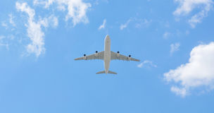 Airplane blue sky Stock Image