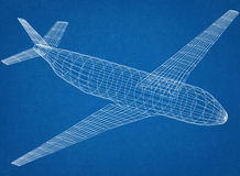 Airplane Blueprint Stock Photography