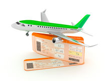 Airplane boarding pass tickets concept. 3D concept Stock Image