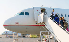 Airplane Boarding. Royalty Free Stock Photo