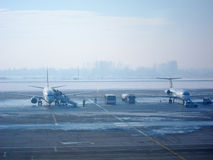 Airplane Boarding Royalty Free Stock Images