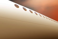 Airplane Body Background Royalty Free Stock Images