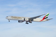 Airplane Boeing 777--31 HER A6-EGO Emirates Airline Company Stock Photo