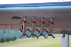 Airplane Bomber Missils Royalty Free Stock Images