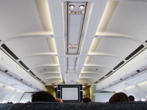 Airplane business class. An international airplane in flight Royalty Free Stock Photography