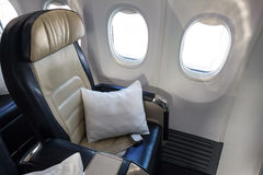 Airplane business class cabin Royalty Free Stock Photography