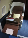 Airplane Business Class. View of an airplane business class interior Royalty Free Stock Images