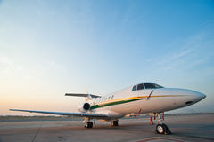 Airplane for business flights Stock Image