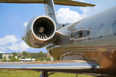 Airplane for business flights. (aircraft Royalty Free Stock Photos