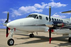 Airplane for business flights. (aircraft Stock Photography