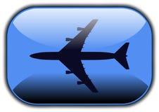 Airplane button Royalty Free Stock Photo