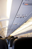 Airplane cabin Stock Photography
