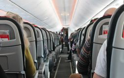 Airplane cabin Stock Image
