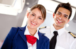 Airplane cabin crew Stock Photography