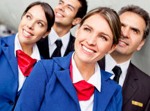 Airplane cabin crew Royalty Free Stock Photos
