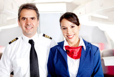 Airplane cabin crew Royalty Free Stock Photo