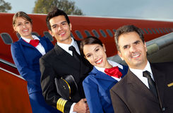 Airplane cabin crew Stock Photos
